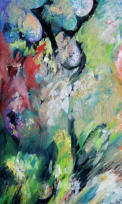 Hallucination Painting - Floral Enchantment by Rachel Christine Nowicki