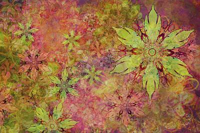 Digital Art - Floral Explosion Melange by Kristin Doner