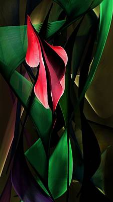 Digital Art - Floral Expression 062917a1 by David Lane