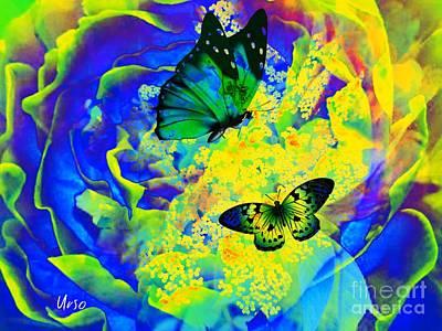 Digital Art - Floral Fantasia by Maria Urso