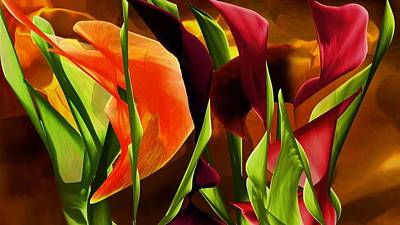 Digital Art - Floral Fantasy 06281 by David Lane