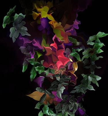 Digital Art - Floral Fantasy 063016 by David Lane