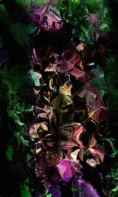 Digital Art - Floral Fantasy 072817 by David Lane