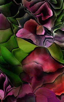 Digital Art - Floral Fantasy 101716 by David Lane