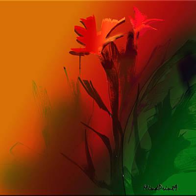 Floral Fantasy Art Print by Asok Mukhopadhyay