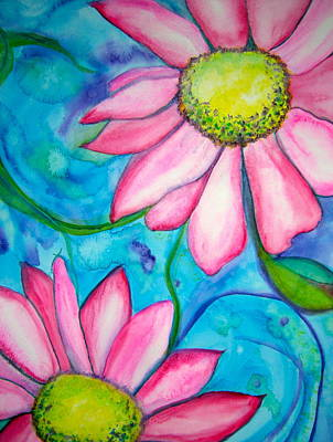 Painting - Floral Fantasy by Carol Warner