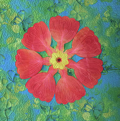 Tapestry - Textile - Floral Fantasy by Jo Baner