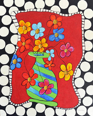 Painting - Floral Fantasy by Kenny Francis