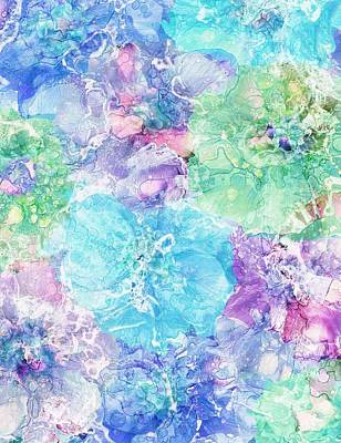 Alcohol Ink Painting - Floral Fantasy by Klara Acel