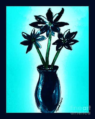 Wrap Digital Art - Floral Fantasy by Marsha Heiken