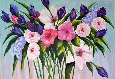 Painting - Floral Fantasy by Rosie Sherman
