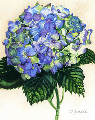 Art Print featuring the painting Floral Favorite by Barbara Jewell