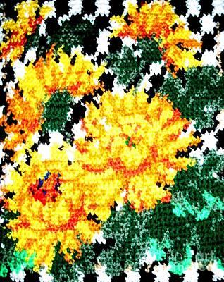 Floral Fiber Art Original