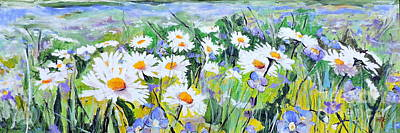 Painting - Floral Field by Jodie Marie Anne Richardson Traugott          aka jm-ART