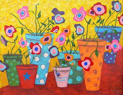 Painting - Floral Fiesta by John Blake
