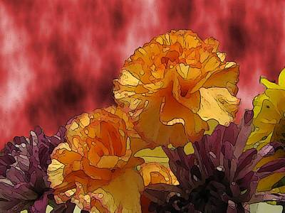 Digital Art - Floral Fiesta by Tim Allen