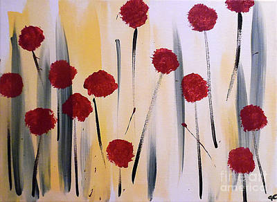 Abstract Handbag Painting - Floral Fireworks by Jilian Cramb - AMothersFineArt