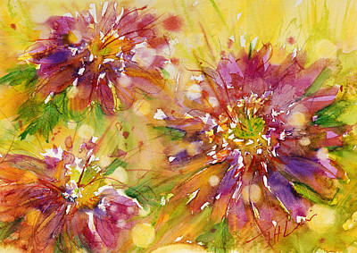 Painting - Floral Fireworks by Judith Levins