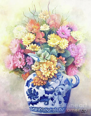 Painting - Floral Fusion by Marlene Book