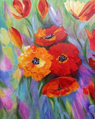 Painting - Floral Fusion by Rosie Sherman