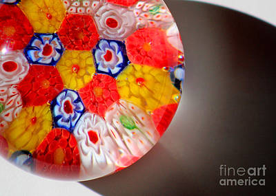 Photograph - Floral Glass Abstract Close-up by Karen Adams