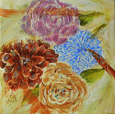 Painting - Floral Group by Betty-Anne McDonald