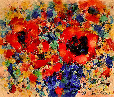 Interior Still Life Mixed Media - Floral Happiness by Natalie Holland