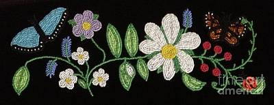 Beadwork Mixed Media - Floral I by Douglas K Limon