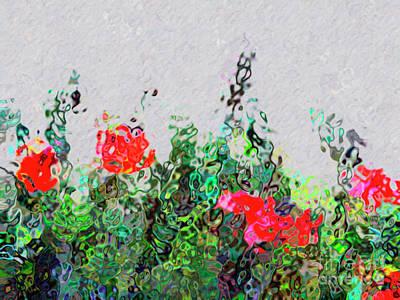 Vibrant Mixed Media - Floral Illusions by GabeZ Art