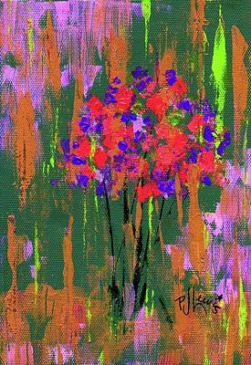 Painting - Floral Impresions by P J Lewis
