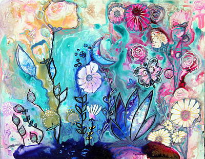 Wall Art - Painting - Floral Intuitive Design by Carol Iyer