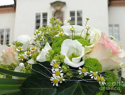 Photograph - Floral Juxtaposition In Passau by Barbie Corbett-Newmin