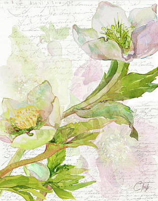 Mixed Media - Floral Lettres D'amour by Colleen Taylor