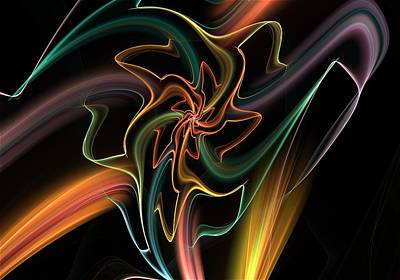 Digital Art - Floral Light by David Lane