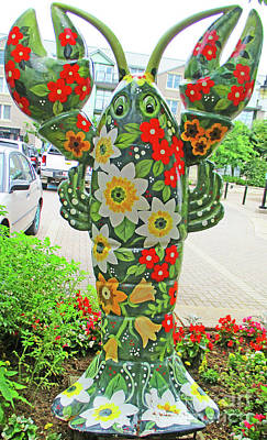 Photograph - Floral Lobster by Randall Weidner