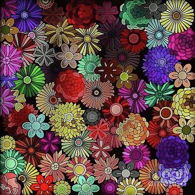 Wall Art - Digital Art - Floral Love by Lisa Marie Towne