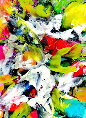 Wall Art - Painting - Floral Madness by Alexis Bonavitacola