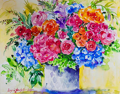 Painting - Floral Menage by Ingrid Dohm