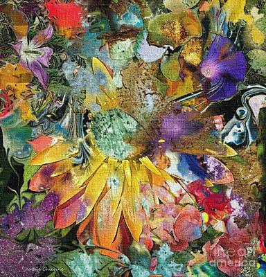 Digital Art - Floral Mix by Kathie Chicoine