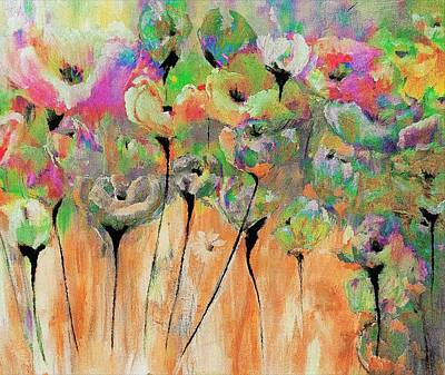 Digital Art - Floral Moments Painting By Lisa Kaiser by Lisa Kaiser