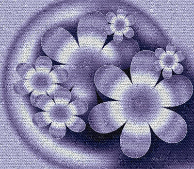 Digital Art - Floral Mosaic by Iris Gelbart
