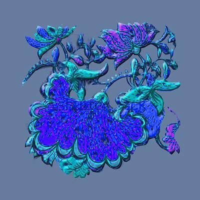 Digital Art - Floral Motif Remake by Asok Mukhopadhyay