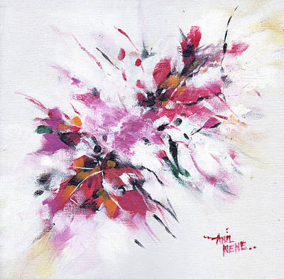 Painting - Floral New by Anil Nene