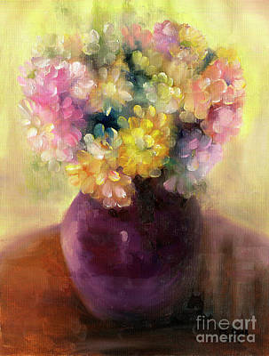 Painting - Floral Oil Sketch by Marlene Book