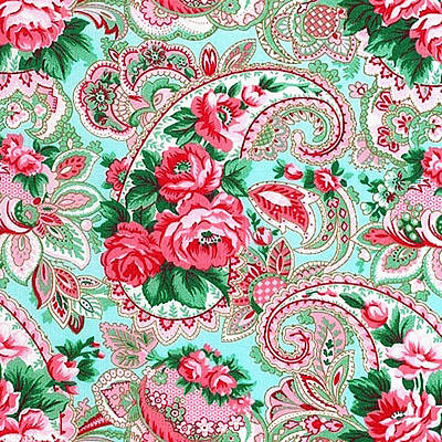 Painting - Floral Paisley Pattern 01 by Aloke Creative Store