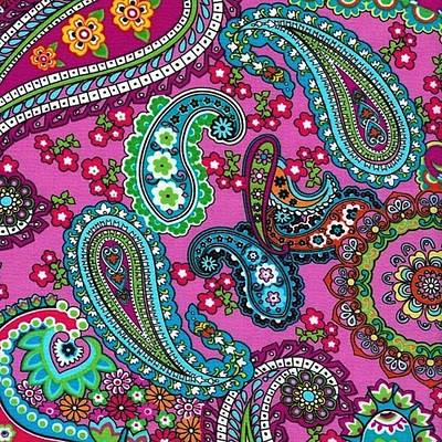 Painting - Floral Paisley Pattern 03 by Aloke Creative Store
