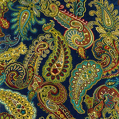 Painting - Floral Paisley Pattern 05 by Aloke Creative Store