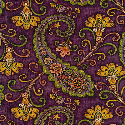 Painting - Floral Paisley Pattern 06 by Aloke Creative Store