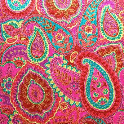 Painting - Floral Paisley Pattern 07 by Aloke Creative Store