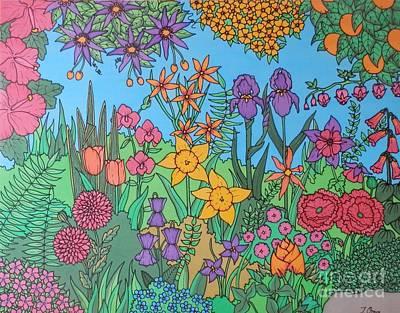 Floral Passion Original by Joanne Oram